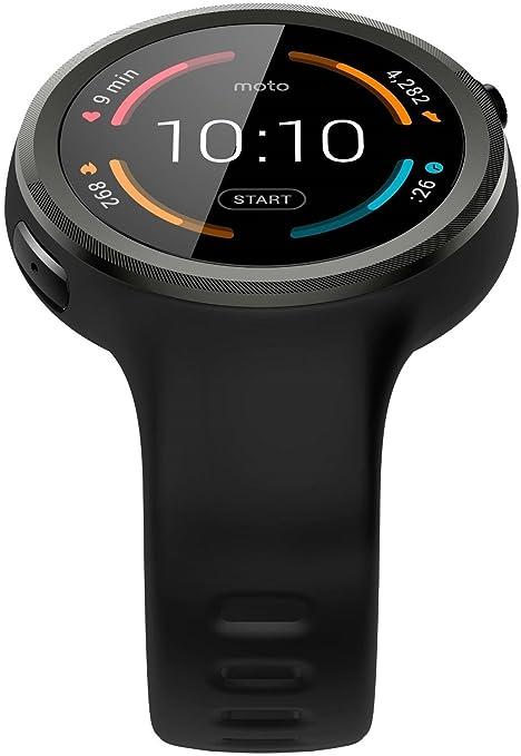 motorola sm4293ae7b1 – Moto 360 Sport – 45 mm – Reloj Inteligente con Banda – Silicona