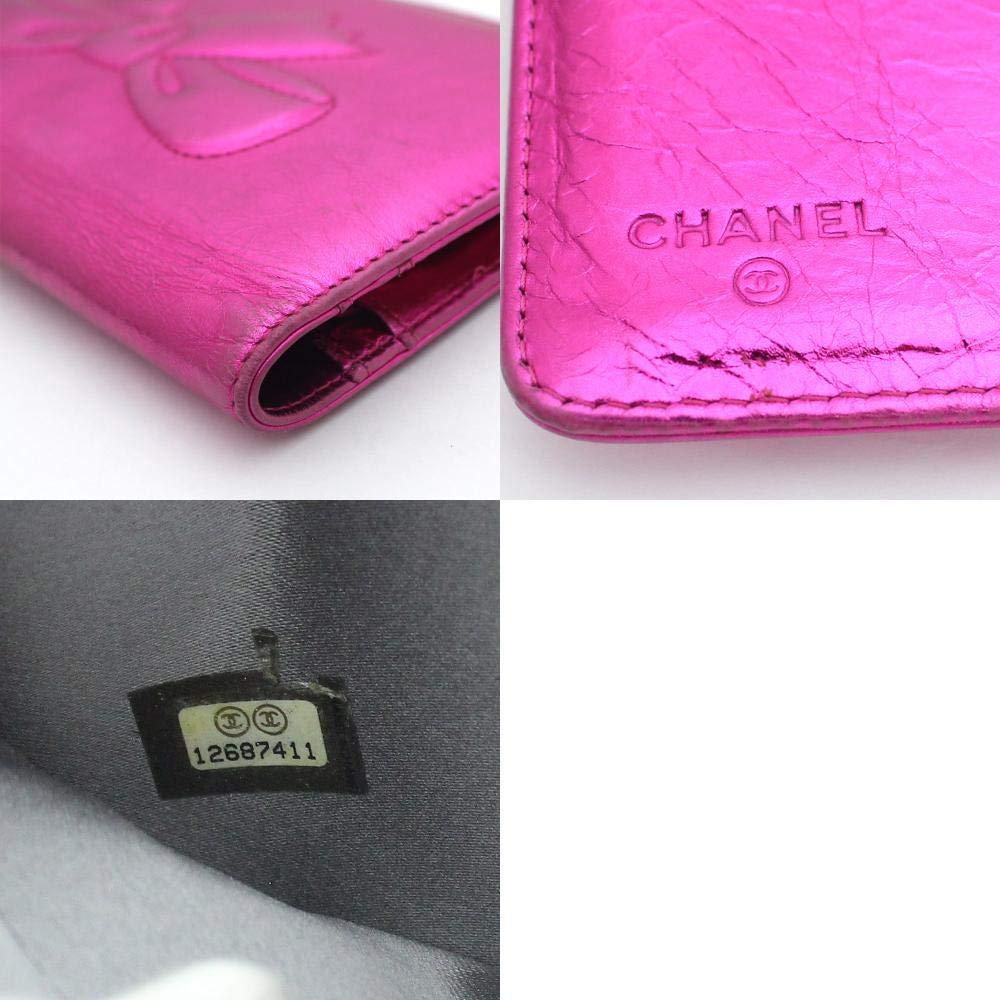 e6d8ebcf8863 Amazon   シャネル CHANEL りぼん ココマーク メタリック リボン A46896 長財布 ピンク レディース レザー [中古]   財布