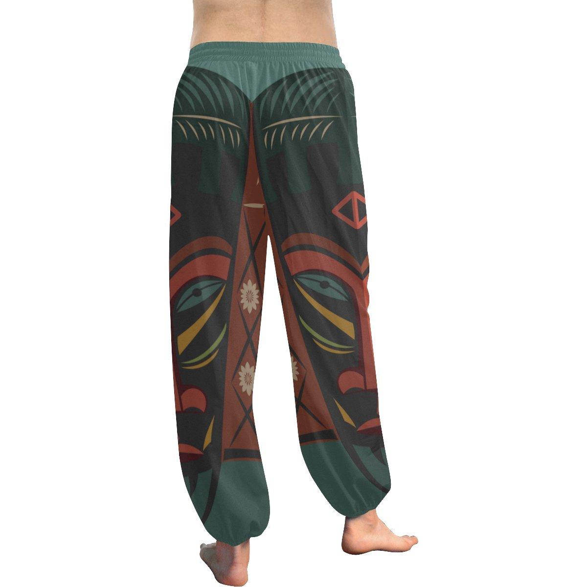 African Art Tribal Print Womens Yoga Harem Pants