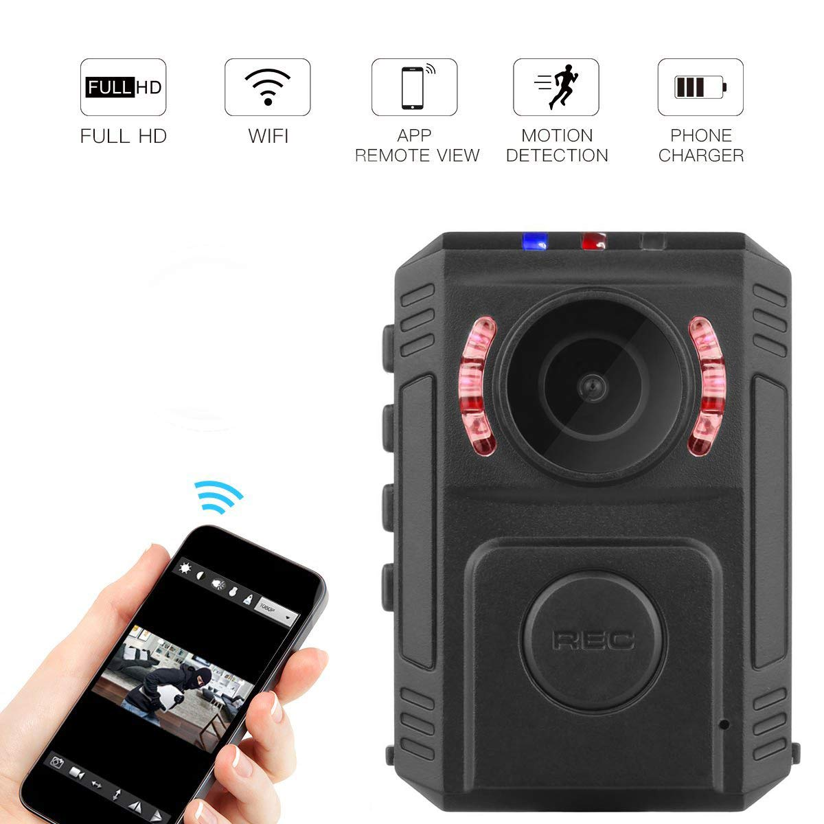 Amazon.com : Shadow P10 Mini Camera-Hidden Camera-Mirrorless Camera Lenses-Camaras Espias-Mobile APP Application WiFi Point to View in Real Time-Law ...