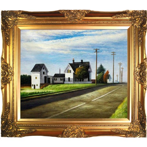 overstockArt EH2083-FR-6996G20X24 Route 6 Eastham Framed Oil Reproduction of an Original Painting by Edward Hopper