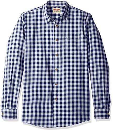 wrangler-mens-authentics-long-sleeve-premium-gingham-shirt-blue-depths-l