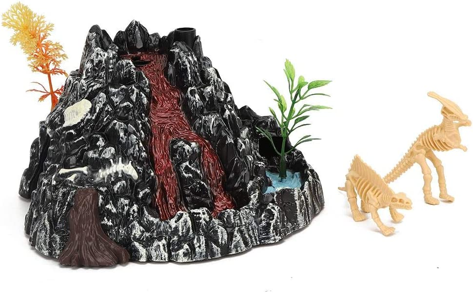 Volcano Dinosaur Toy Exquisite Kid Gift Electric Highly Simulation Volcano Dinosaur Model Toy