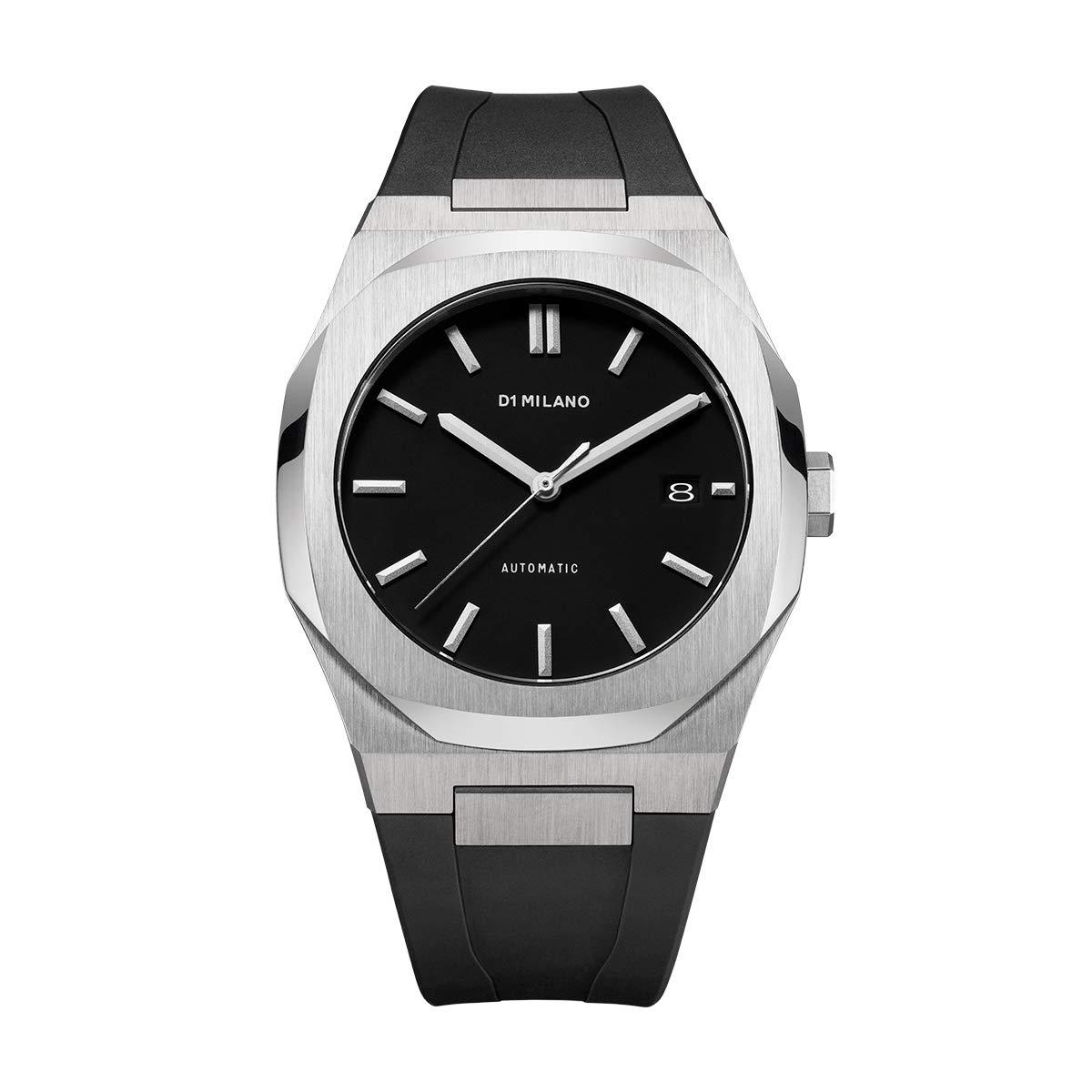 [D1 MILANO] D1ミラノ 時計 メンズ/ブラック <P701> ラバー ベルト ATRJ01 シルバー 自動巻き【正規代理店】