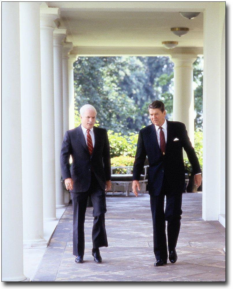 President Ronald Reagan & John McCain 11x14 Silver Halide Photo Print