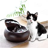 llkajes Pet Water Fountain Cat Water Fountain for Drinking Ultra-Quiet Pump Pet Water Dispenser for Cats Small Dogs 1.5L (Col