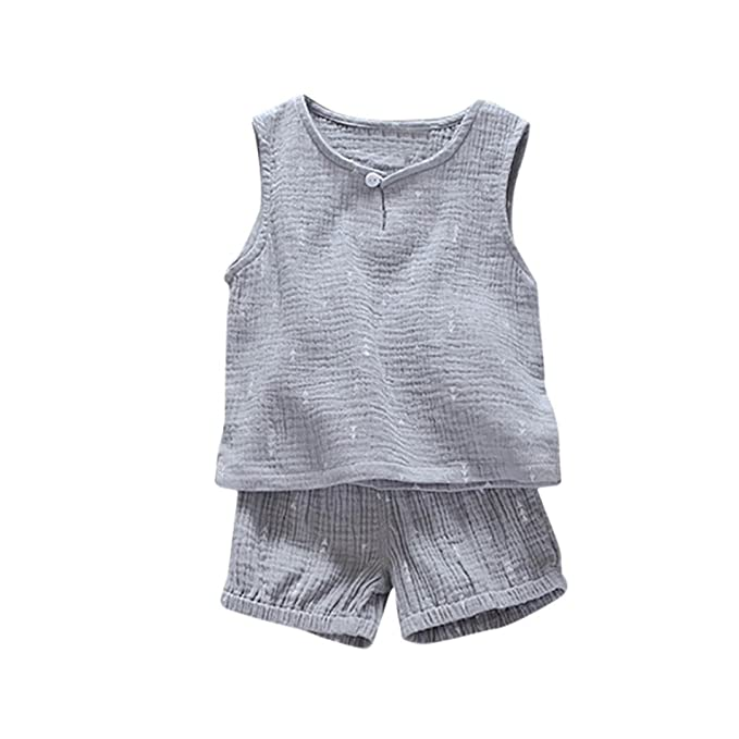 b61b6c7065c1 Hot Sale!! 2Pcs Set Toddler Kids Baby Boy Geometric Print T shirt ...