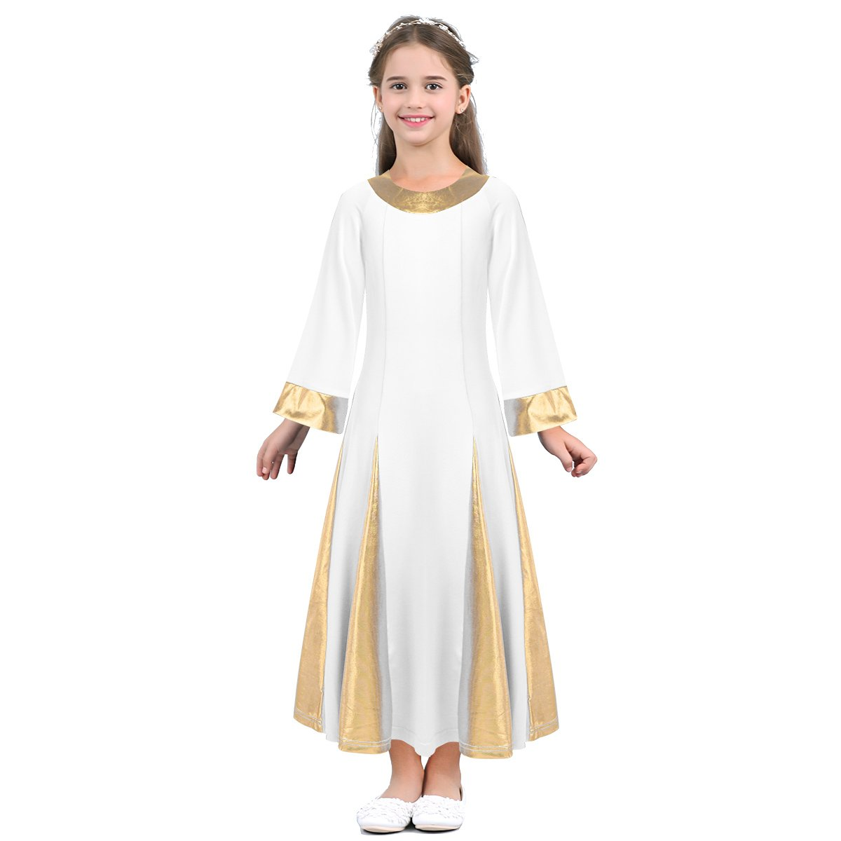 熱販売 TiaoBug DRESS ガールズ ガールズ ホワイト 14|ホワイト B07FVSFF8G 14|ホワイト ホワイト 14, カガワチョウ:2e4eb32c --- synnexsoftech.com