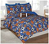 Fancy Collection Kids/teens Sports Football Basketball Baseball Soccer Design Luxury Comforter Furry Buddy Included (full)