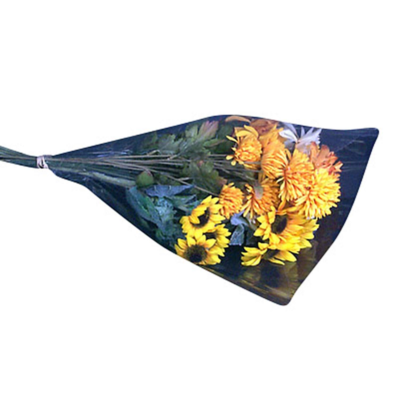 Clear Cut Flower Bouquet Sleeves - 12'' diam. x 16'' Tall x 3'' at Bottom