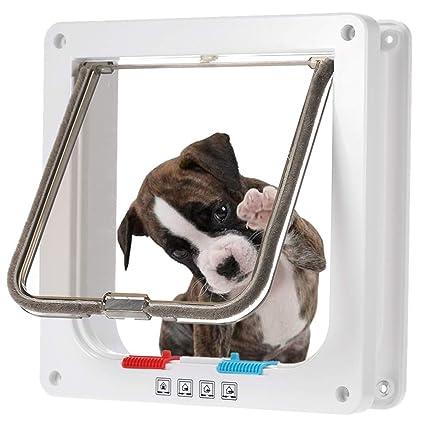 Puertas para Perros, Gateras para Puertas Chip 4-Modo Puerta ...