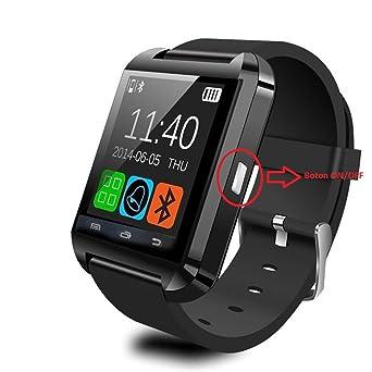 Montre connectée Téléphone Technologie BT Smart Watch Intelligente Fonctions Appels SMS Musique Altimètre Baromètre Podomètre Réveil