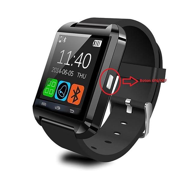 Smartwatch Android Protone BN3000, reloj inteligente, Bluetooth, negro, podómetro, barómetro, cronómetro, termómetro, altímetro,: Amazon.es: Relojes