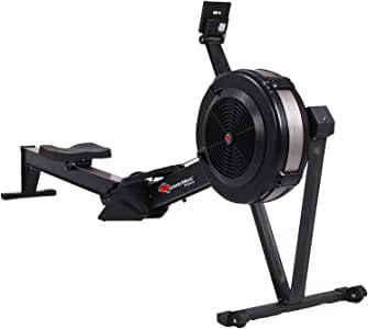 PowerMax Fitness Unisex Adult RAC-2500 Air Rowing Machine With Pm5 Advanced Display For Commercial Use - Black, Standard