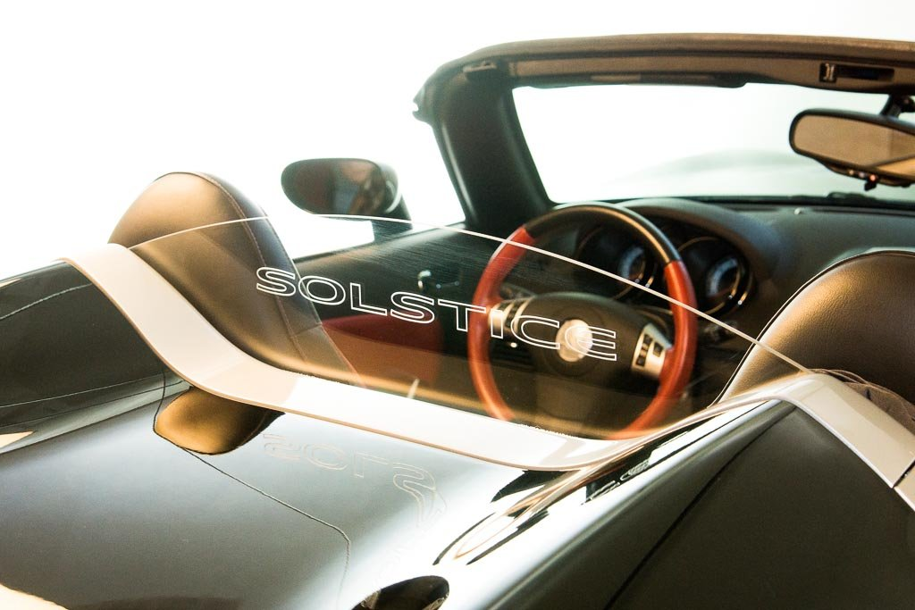 DEFLECTAIR™ - Wind Deflector for Pontiac Solstice Convertible - Clear w/ SOLSTICE Engraving DEFLECTAIRTM