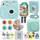 #5: Fujifilm Instax Mini 9 Instant Camera Ice Blue + Fuji Instax Film Twin Pack (20PK) + Blue Camera Case + Frames + Photo Album + 4 Color Filters And More Top Accessories Bundle