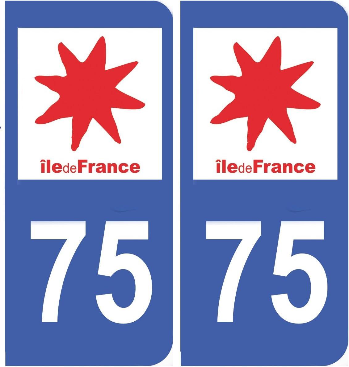 Pegatina de matrícula del departamento francés 75 Paris en Île de France: Amazon.es: Hogar