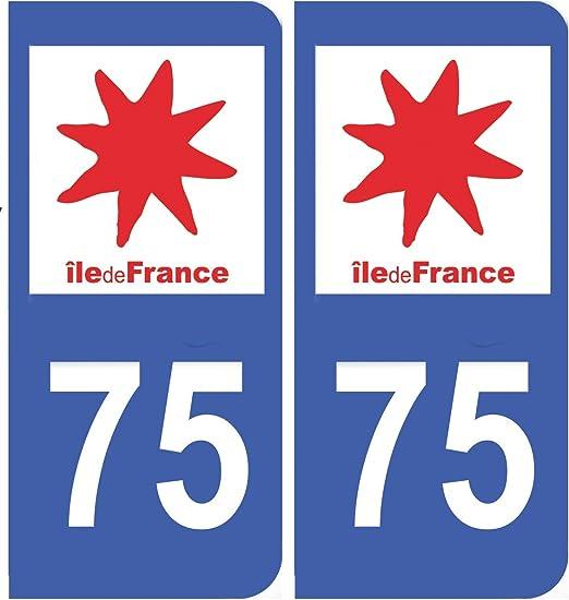 Pegatina de matrícula del departamento francés 75 Paris en Île de ...