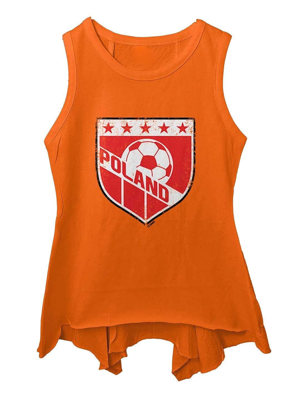 Tcombo Poland Soccer Distressed Badge Toddler//Youth Sleeveless Backswing