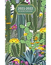 2021-2022 Two Year Pocket Planner Calendar: Pretty Cactus Gift For Moms | 2 Year Monthly Pocket Calendar 2021 2022 - 24 Month Diary Planner Journal Orgnizer For Women