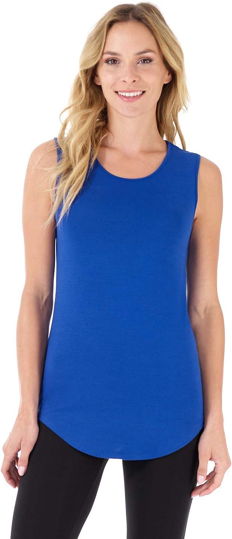Rekucci Women's Soft Jersey Knit Sleeveless Tank Top (S-XXL)