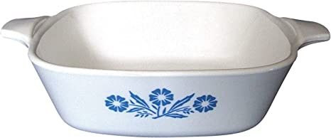 1 12 Quart Read Description No Lid P Series No Damage Wear On Bottom Corning P 4 B Square - -  Cornflower Blue