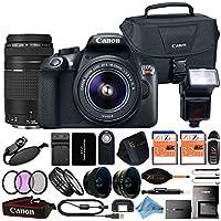 Canon EOS Rebel T6 18MP Digital SLR Camera Retail Packaging 24 Piece Bundle (18-55mm & 75-300mm Premium Bundle)