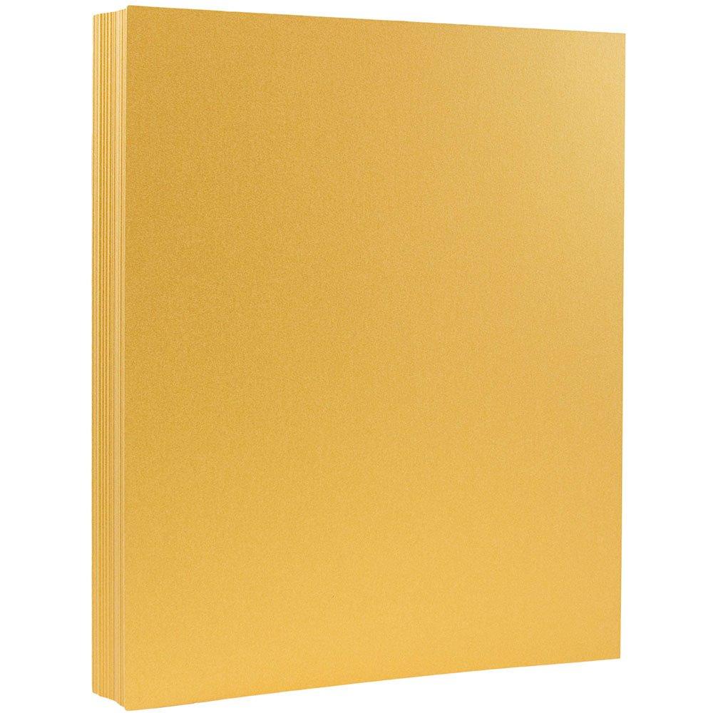 JAM Paper Metallic Paper - 8.5'' x 11'' - 80 lb Gold Stardream Metallic - 100 Sheets/pack