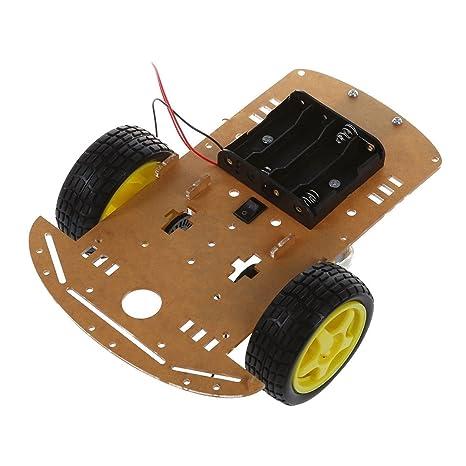 SODIAL(R) Kit Chasis WST inteligente de motores Robot Car velocidad Encoder Caja de