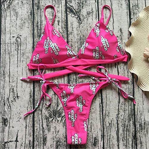 set bikini bikinis print S de 8712 women bain suit swimwear pink femme beachwear sexy maillot bathing swimsuit NEW micro brazilian biquinis gFa4YYq