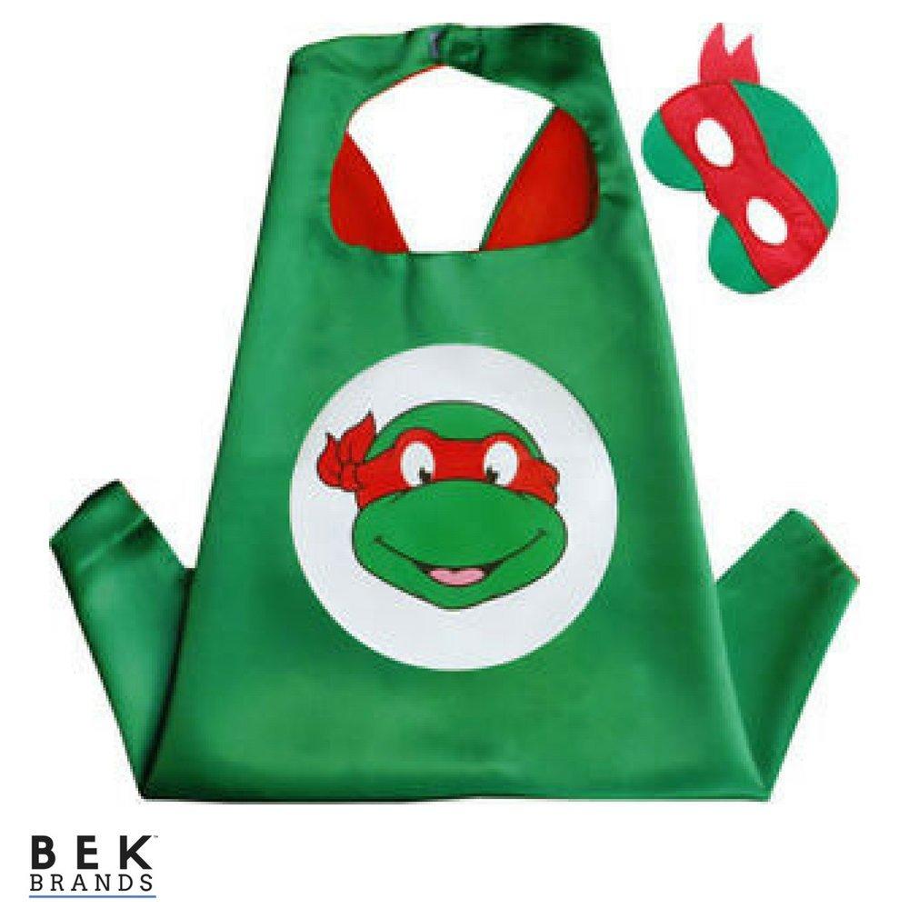 Bek Brands Teenage Mutant Ninja Turtles Raphael Superhero Cape and Mask Set
