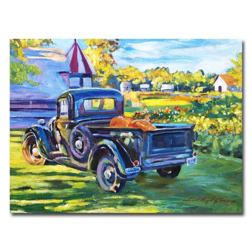 The Pumpkin Pickup by David Lloyd Glover - Pumpkin wall art