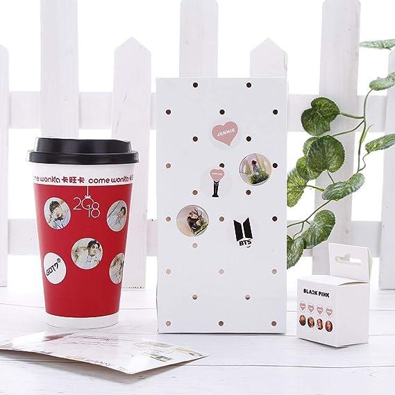 Scrapbooks H02 Projets de Bricolage Lavendei Kpop BTS Bangtan Boys Tape Sticker pour Arts et M/étiers Calendrier 3M//100pcs