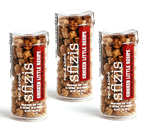 Polka Dog Bakery Sfizis Chicken Littles All Natural Dog Treats Tube (3 Pack), 2 Oz Each