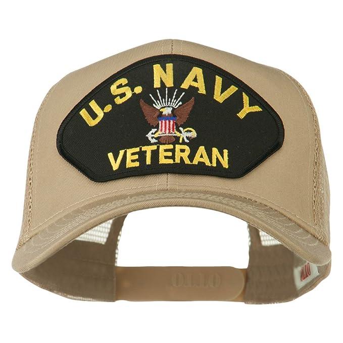 US Navy Veteran Military Patch Mesh Back Cap - Khaki OSFM at Amazon ... 3a7855f153a1
