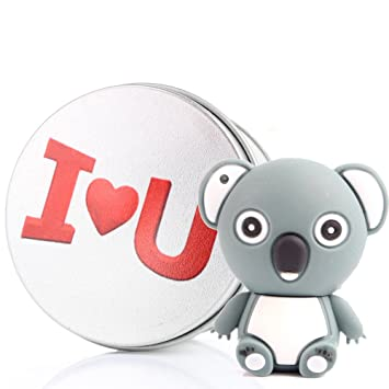 Memoria USB con llavero koala Kenor 8 G/16 G/32G/64G, adorable forma de animal (64.0 GB), color gris