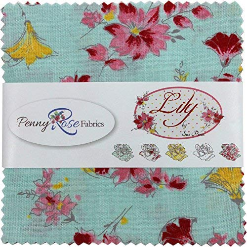 Floral Rose Fabric (Sue Penn Lily 5