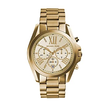 2428563a6ac Image Unavailable. Image not available for. Color  Michael Kors Women s  Bradshaw Gold-Tone Watch MK5605