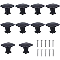 Natuce 10 stuks mat-zwarte ladeknoppen, meubelknop, meubelgrepen, ladeknoppen, ladeknoppen, set van meubelgreep, modern…