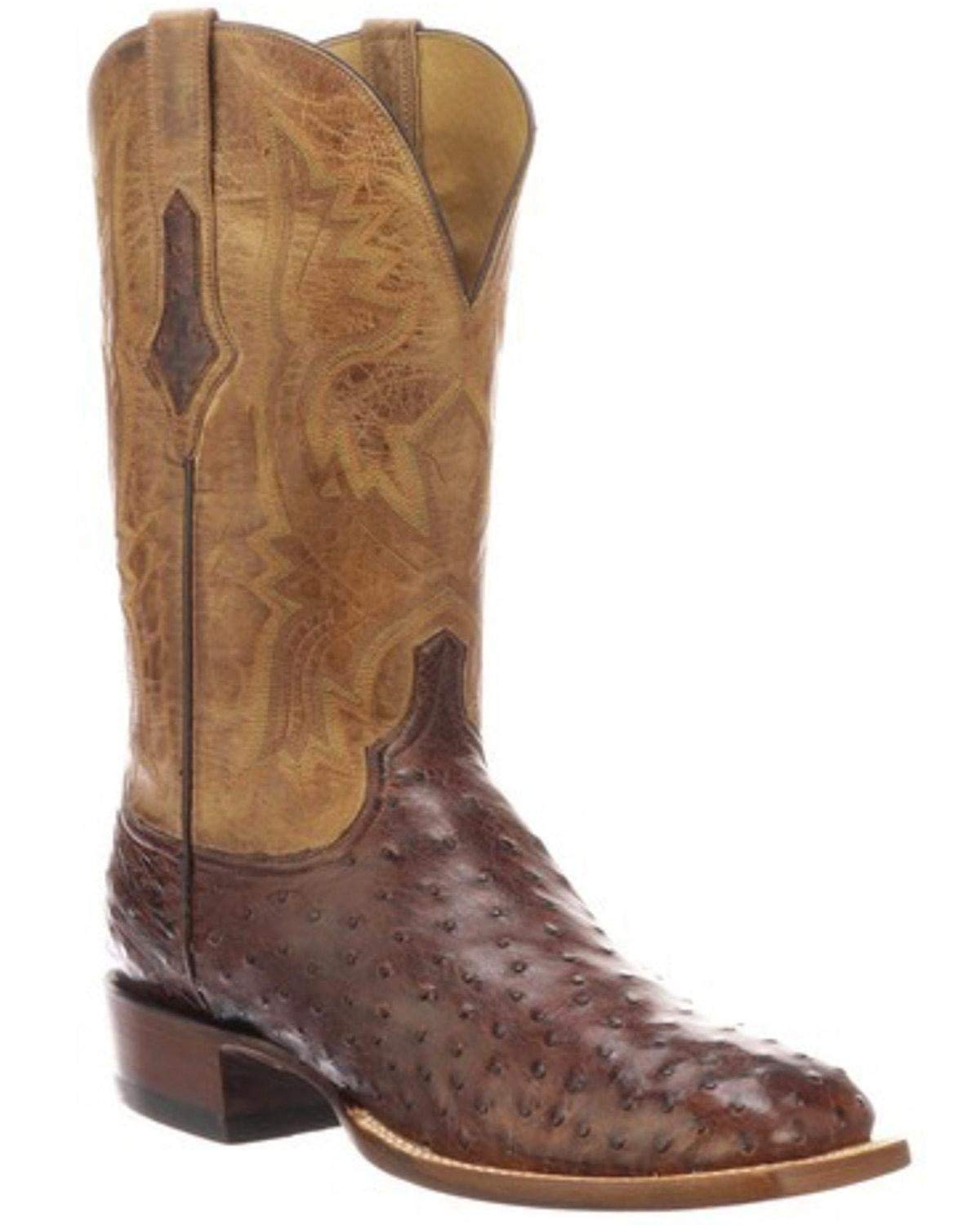 Lucchese Bootmaker Men's Cliff Western Boot, Antique Chocolate/Tan, 8 D US by Lucchese Bootmaker