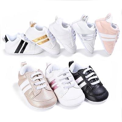 VLUNT Bicolore Baskets Bébé, Chaussures à Enfiler Pour Bébé Fille et Bébé Garçon, Convient Pour le Printemps
