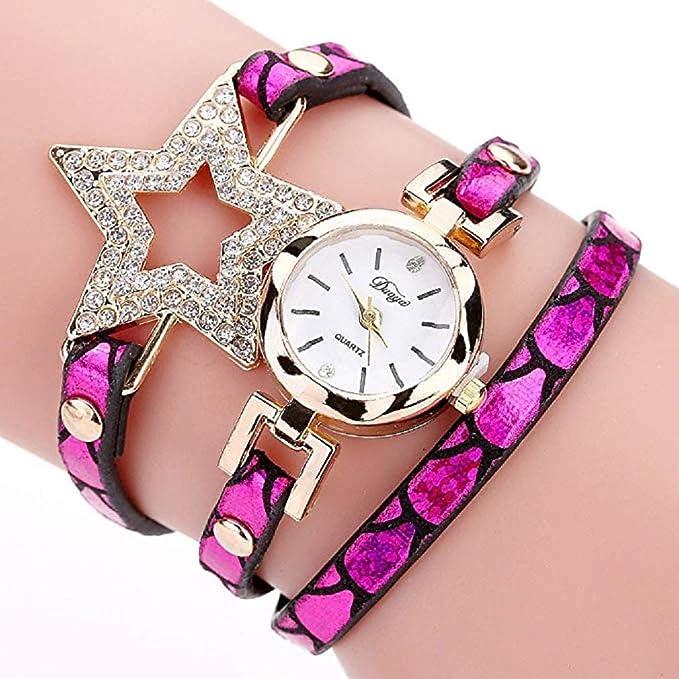 Reloj para Mujer, Brazalete de Relojes Cuero con pedrería a la Venta Liquidación Relojes de señora Relojes de Pulsera para Mujeres (Azul): Amazon.es: ...