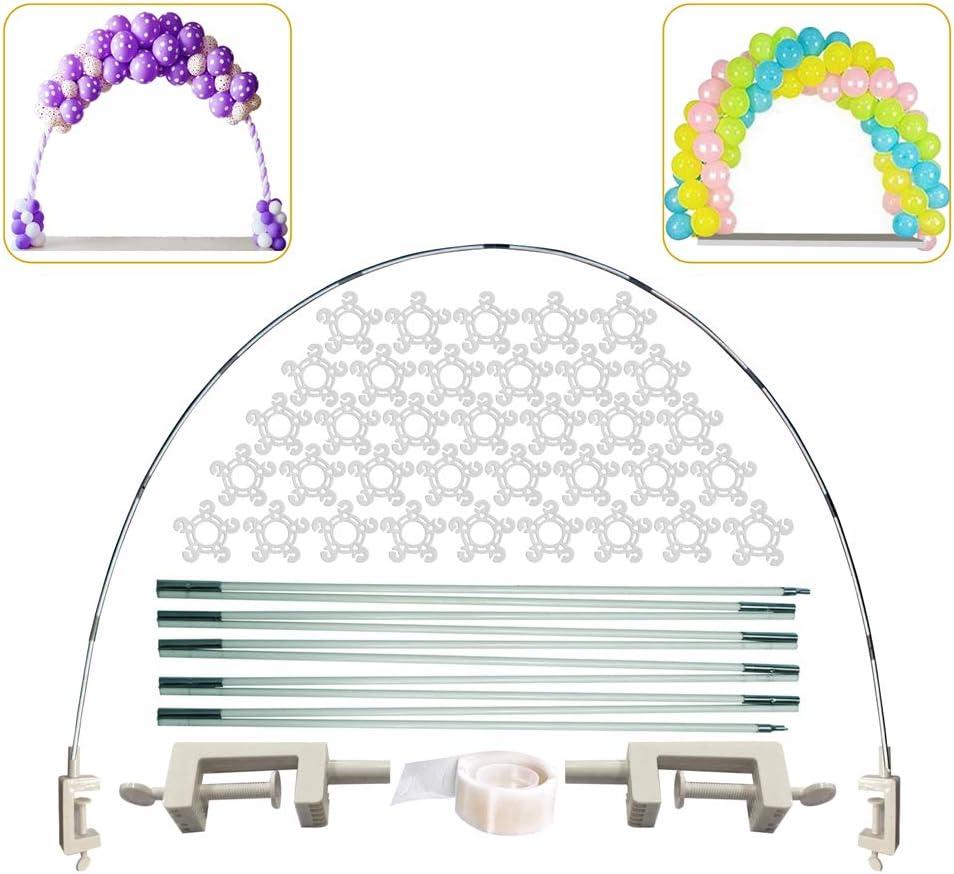 Balloon Arch Kit Accessories -Table Balloon Elastic Carbon Fiber Arch Stand Kit for Birthday/Wedding/Graduation/Christmas Balloon Decor Accessories