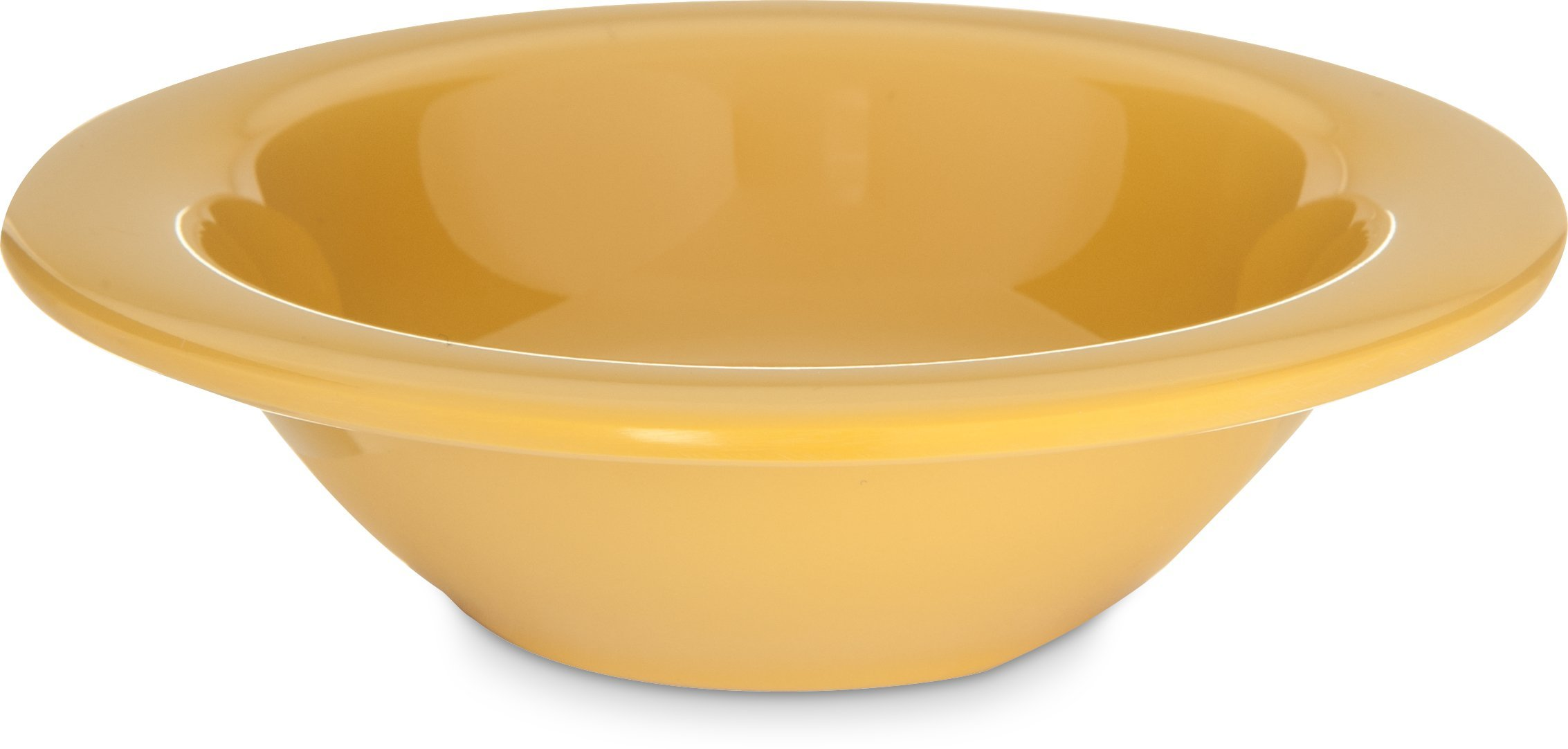 Carlisle 4304222 Durus Rimmed Melamine Fruit Bowl, 4 Oz., Honey Yellow (Pack of 48)
