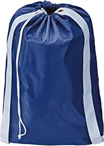HOMEST Laundry Bag with Shoulder Straps, Machine Washable Nylon Large Dirty Clothes Organizer for Camp, Fits Laundry Hamper or Basket, Can Carry Up to 3 Loads of Laundry, Blue