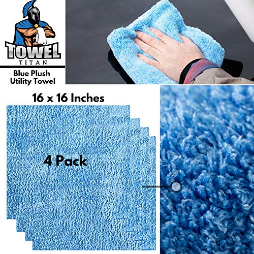 Towel Titan Microfiber Complete Bundle Kit - Microfiber Detailing Towels for Your Car, Boat, RV, Home, and More - Drying Towels, Utility Towels, Wax & Polishing Towels (Professional Bundle) by Towel Titan (Image #4)