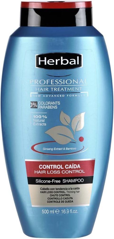 Herbal Professional Treatment Hair Loss Control Champú - 500 ml - [paquete de 3]