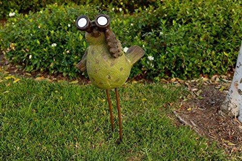 Alpine Solar Bird with Binoculars Statue, 30 Inch Tall