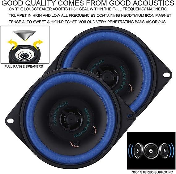 ePathChina 2pcs 4 Inch 40W Car HiFi Coaxial Speaker Vehicle Door Auto Audio Music Stereo Full Range Frequency Speakers for Cars ePathChina®