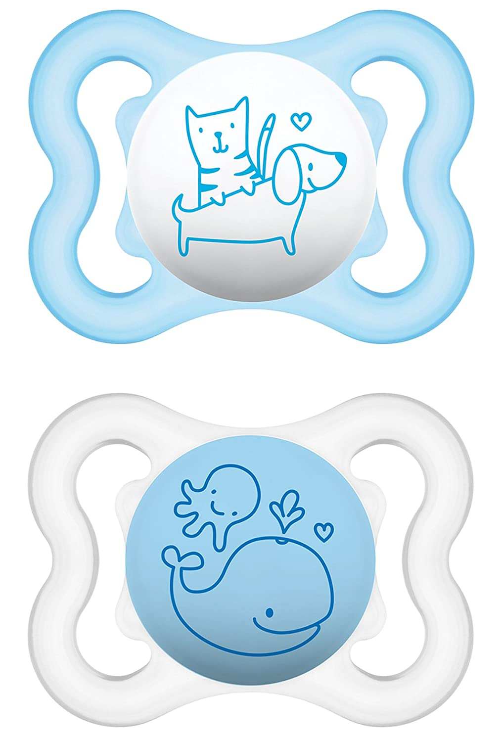 Amazon.com : MAM 66667411 Air Silicone Soother 0 - 6 Months for Boys ...